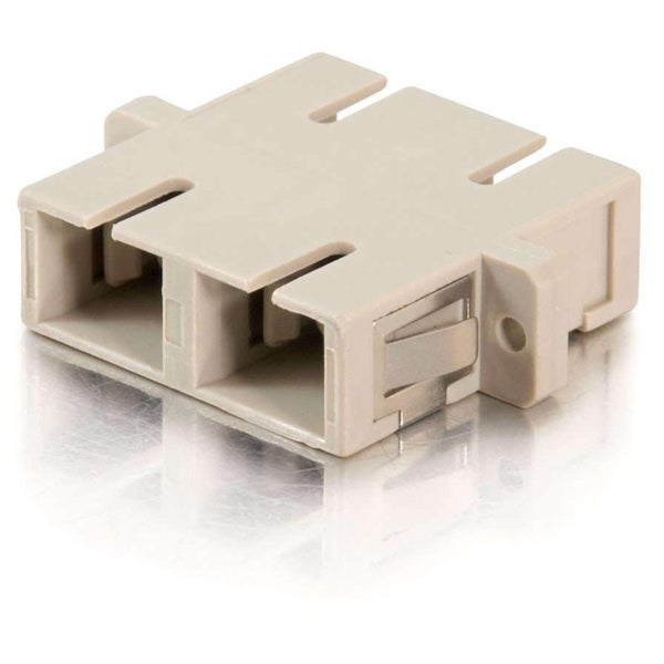C2G SC Female to SC Female Duplex Fiber Adapter