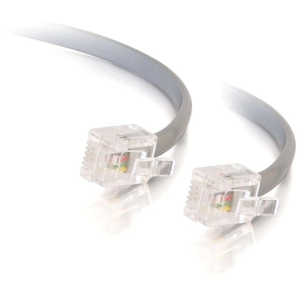 C2G 75ft RJ11 Modular Telephone Cable