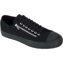 Men's Demonia Deviant 06 Black Canvas/Black
