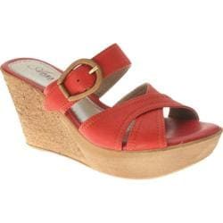 Women's Azura Regatta Red Leather