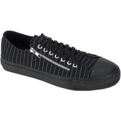 Men's Demonia Deviant 06 Black Canvas/White Pinstripe