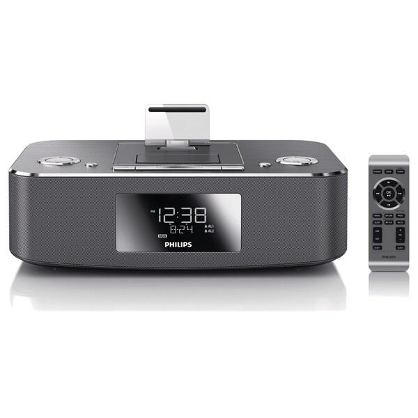 Philips DC390 Desktop Clock Radio - 10 W RMS - Stereo - Apple Dock In