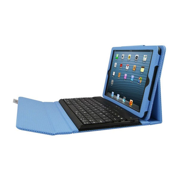 iPad mini Case with Detachable Bluetooth Keyboard - Blue Via Ergoguys