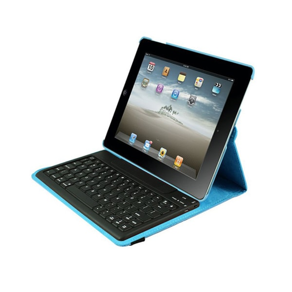 iPad Case Detachable Bluetooth Keyboard for iPad 2-4 - Blue Via Ergog