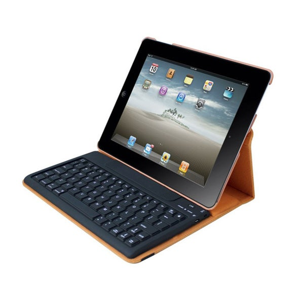 iPad Case Detachable Bluetooth Keyboard for iPad 2-4 - Orange Via Erg