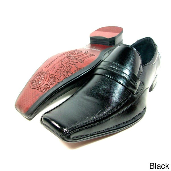 Delli Aldo Men's Leatherette Slip-on Loafer Dress Shoes