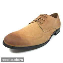 Delli Aldo Men's Distressed Leatherette Oxford Dress Shoes