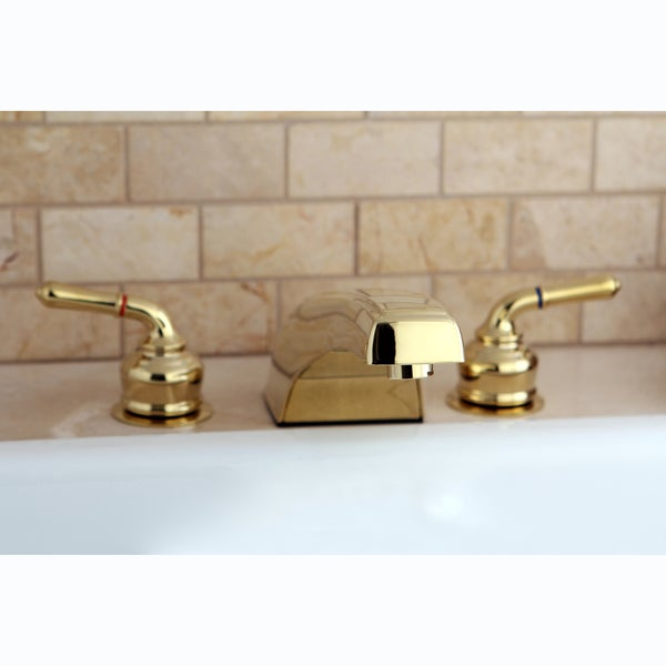 Polished Brass Widespread Roman Tub Filler Faucet