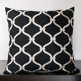 Olivia Caviar Lattice 18x18-inch Decorative Pillow