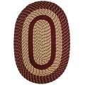 Chatsworth Chocolate Indoor/ Outdoor Braided Rug (2'4 x 4')