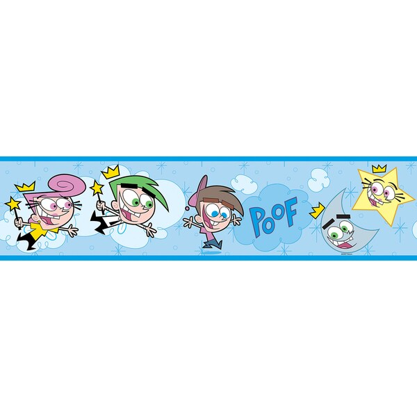 Brewster Blue Fairly Odd Parents Border Wallpaper