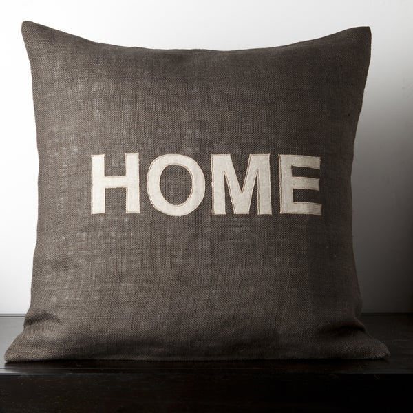 Mia Dark Brown Novelty 22-inch Decorative Down Pillow