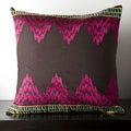 Caelyn Brown and Pink Chevron 18x18-inch Down Decorative Pillow