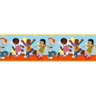Brewster Multicolor Little Bill Border Wallpaper