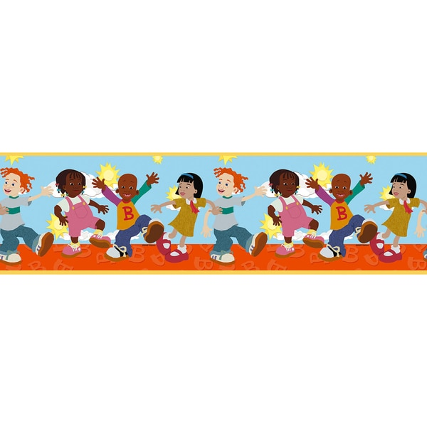 Brewster Multicolor Little Bill Border Wallpaper