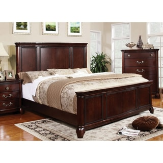 Sky Classic Cherry Finish Queen-size Bed