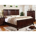 Furniture of America Sky Classic Cherry Finish Queen-size Bed