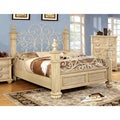 Furniture of America Lucielle Luxury Floral Queen-size Platform Bed