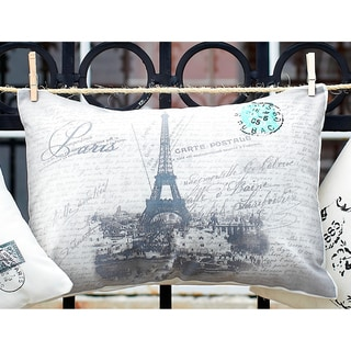 Eiffel Tower Boudoir 20-inch Decorative Throw Pillow