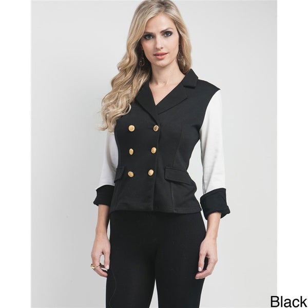 Stanzino Women's Military-inspired Double Breasted Jacket