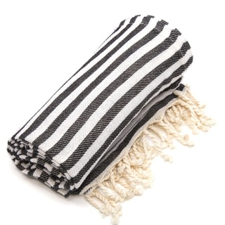 Authentic Pestemal Fouta Charcoal Black Turkish Cotton Bath/ Beach Towel
