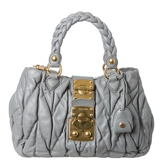 Miu Miu Leather Matelass� Satchel Handbag