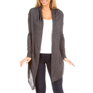 Stanzino Women's Charcoal Open Front Cardigan
