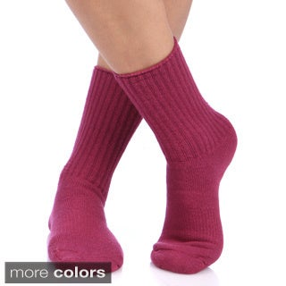 Unisex Alpaca Wool Blend Recreational Socks (Pack of 3)