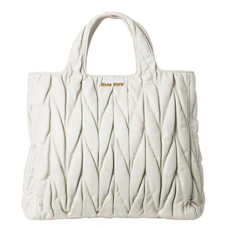 Miu Miu Leather Matelass� Shopper Bag