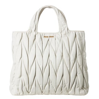 Miu Miu Leather Matelass Shopper Bag