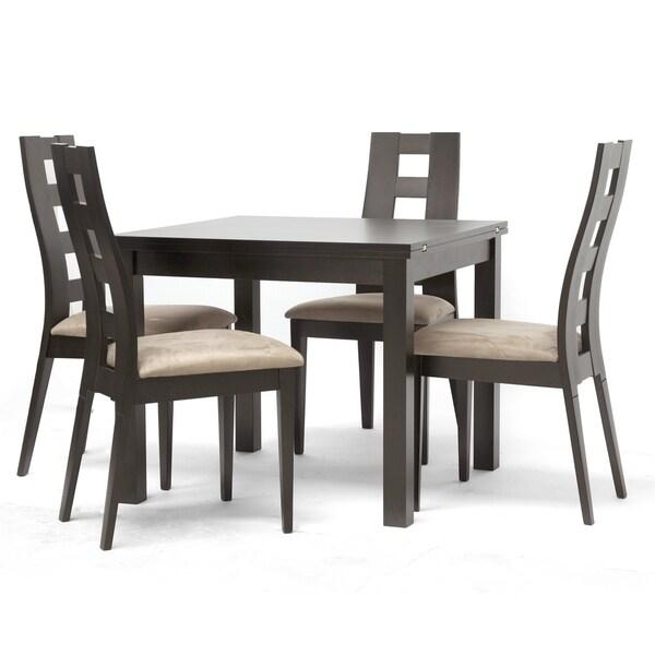 Baxton Studio Paxton 5-piece Dark Brown Modern Dining Set