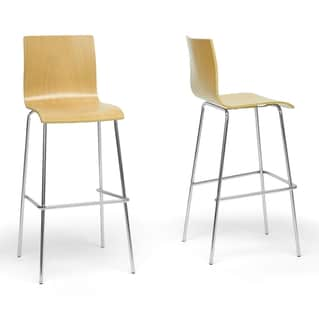 Sydney Plywood Modern Bar Stools (Set of 2)