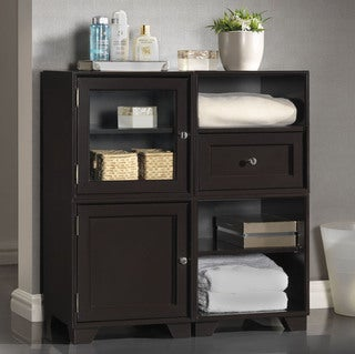 Baxton Studio Alaska Dark Brown Modular Storage Cabinet
