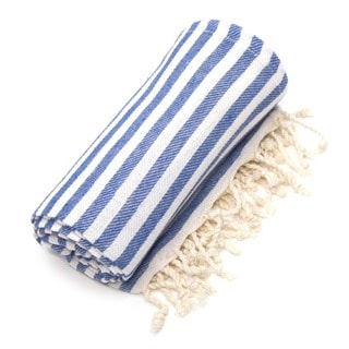 Authentic Pestemal Fouta True Blue Turkish Cotton Bath/ Beach Towel