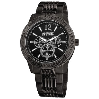 August Steiner Men's Quartz Sport Multifunction Water-resistant Bracelet Watch