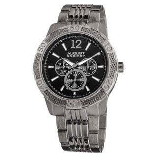 August Steiner Men's Quartz Sport Multifunction Bracelet Watch
