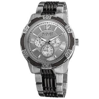 August Steiner Men's Quartz Sport Multifunction Bracelet Watch
