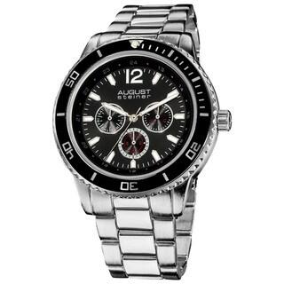 August Steiner Men's Japanese Quartz Multifunction Divers Bracelet Watch
