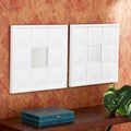 Pavoni Decorative 2-piece White Square Mirror Set