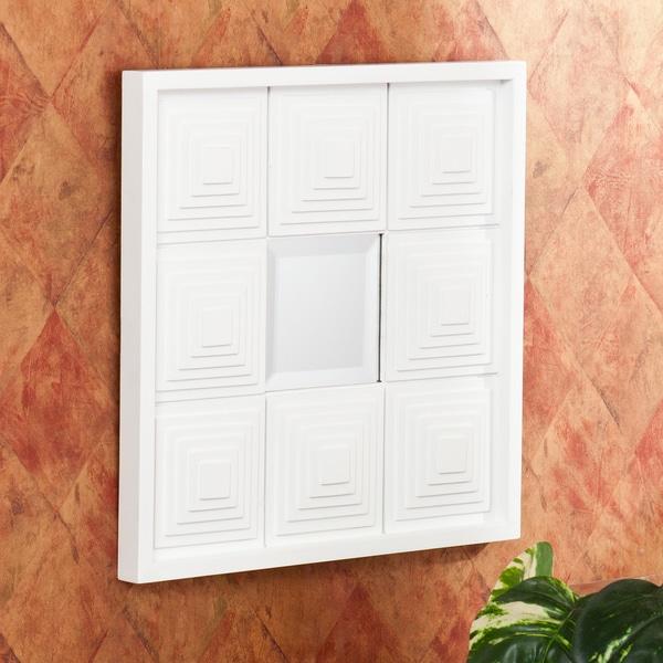 Pavoni Decorative White Square Mirror