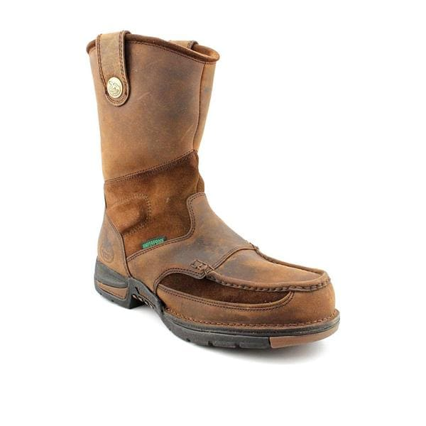 Built By Georgia Boot Men's 'Athens WP Wellington' Leather Boots (Size 10.5)