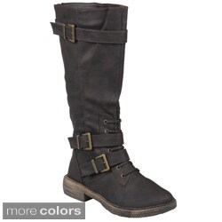 Journee Collection Women's 'Harvey-3' Buckle Detail Tall Boots