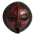 Handcrafted Sese Wood 'Wise and Prudent' African Mask (Ghana)