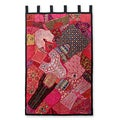 Cotton 'Sugarplum Visions' Wall Hanging (India)
