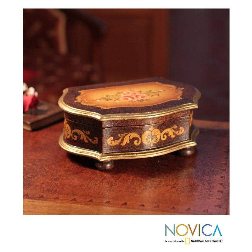 Handcrafted Cedar 'Scent of Roses' Box (Peru)
