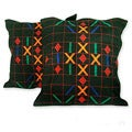 Set of 2 Cotton 'Mystical Algorithm' Cushion Covers (India)