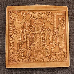 Ceramic Plaque 'Maya Foliated Cross' (Mexico)