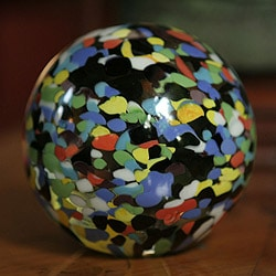 Murano Glass 'Confetti Globe' Handblown Paperweight (Brazil)