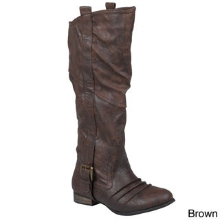 Journee Collection Women's 'Marsala-1' Topstitched Tall Boots