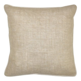 Bella Textured Linen Natural Decorative Throw Pillows (Set of 2)